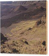 Maui, Haleakala Crater Wood Print