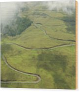 Maui Haleakala Crater Wood Print