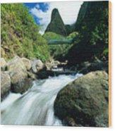 Maui, Iao Needle Wood Print