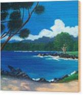 Maui Inlet Wood Print