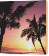 Maui, Kaanapali Beach Wood Print