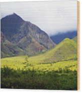 Maui Mountains Wood Print