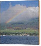 Maui Rainbow Wood Print
