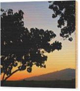 Maui Road Sunset Wood Print