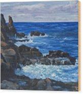 Maui Rugged Coastline Wood Print