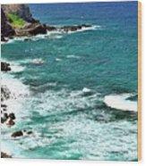 Maui Seascape Wood Print