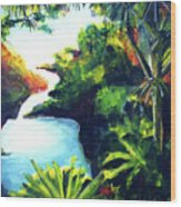 Maui Seven Sacred Falls #184 Wood Print
