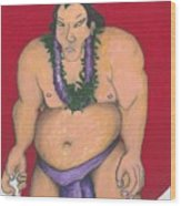 Maui Sumo Wood Print