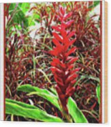 Maui Tropical Floral Wood Print