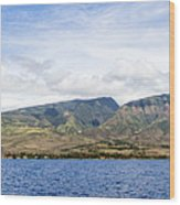 Maui - View From The Boat Wood Print