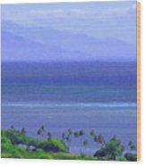 Maui View Wood Print