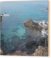 Maui Water And Rocks Wood Print