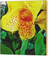 Maui Yellow Floral Wood Print