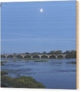 Maumee River At Sunset Wood Print