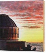 Mauna Kea Observatory Hawaii Wood Print