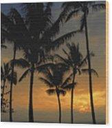 Mauna Loa Sunset - Big Island Hawaii Wood Print
