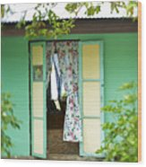 Maupiti Doorway Wood Print