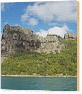 Maupiti Island Cliff Wood Print