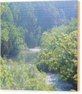 Maury River Wood Print