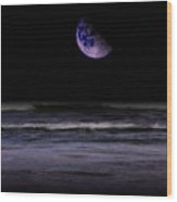 Mauve Ocean Wood Print