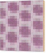 Mauve Plaid Pattern Wood Print