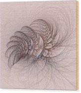 Mauviteer Ferns Wood Print