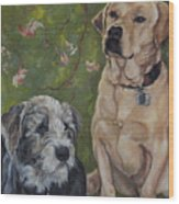Max And Molly Wood Print