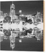 Maxed Cityscape Wood Print