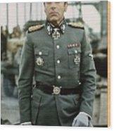 Maximilian Schell As Capt. Stransky Cross Of Iron Publicity Photo 1977 Wood Print