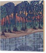 Maxine's Boat Wood Print