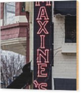 Maxine's Saloon Wood Print