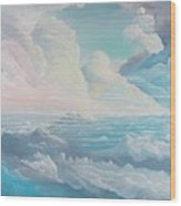 May Colored Clouds Wood Print