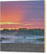 May Ground Fog Wood Print