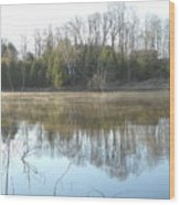 May Morning Mississippi River Wood Print
