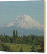 May Mt. Rainier Wood Print