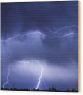 May Showers - Lightning Thunderstorm 5-10-2011 Wood Print