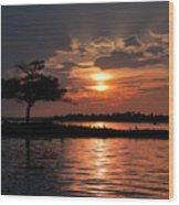 May Sunset At Detroit Point Wood Print
