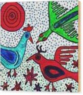 Mayan Birds Wood Print