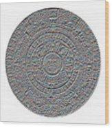 Mayan Calendar Wood Print