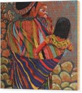 Mayan Family Wood Print