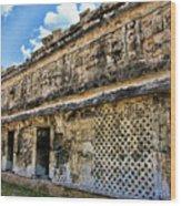 Mayan Graffiti  Wood Print