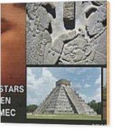 Mayan Olmec Wood Print