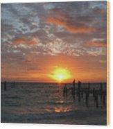Mayan Riviera Sunrise Wood Print