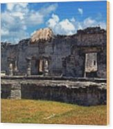 Mayan Ruins In Tulum 2 Wood Print