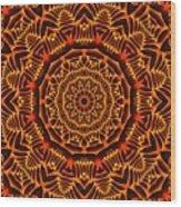 Mayan Sun God Wood Print