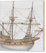 Mayflower Wood Print