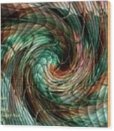 Mayhem Swirl Behind The Safety Net Catus 1 No. 1 H A Wood Print