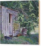 Mayne Island Sawmill Wood Print