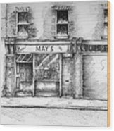 Mays Shop North King Street Dublin 7 Wood Print