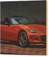 Mazda Mx-5 Miata 2015 Painting Wood Print